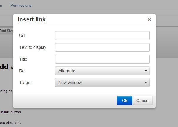 Adding a Hyperlink