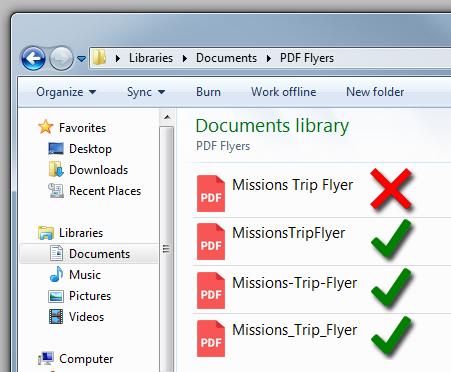 How do I add a PDF flyer to my website?
