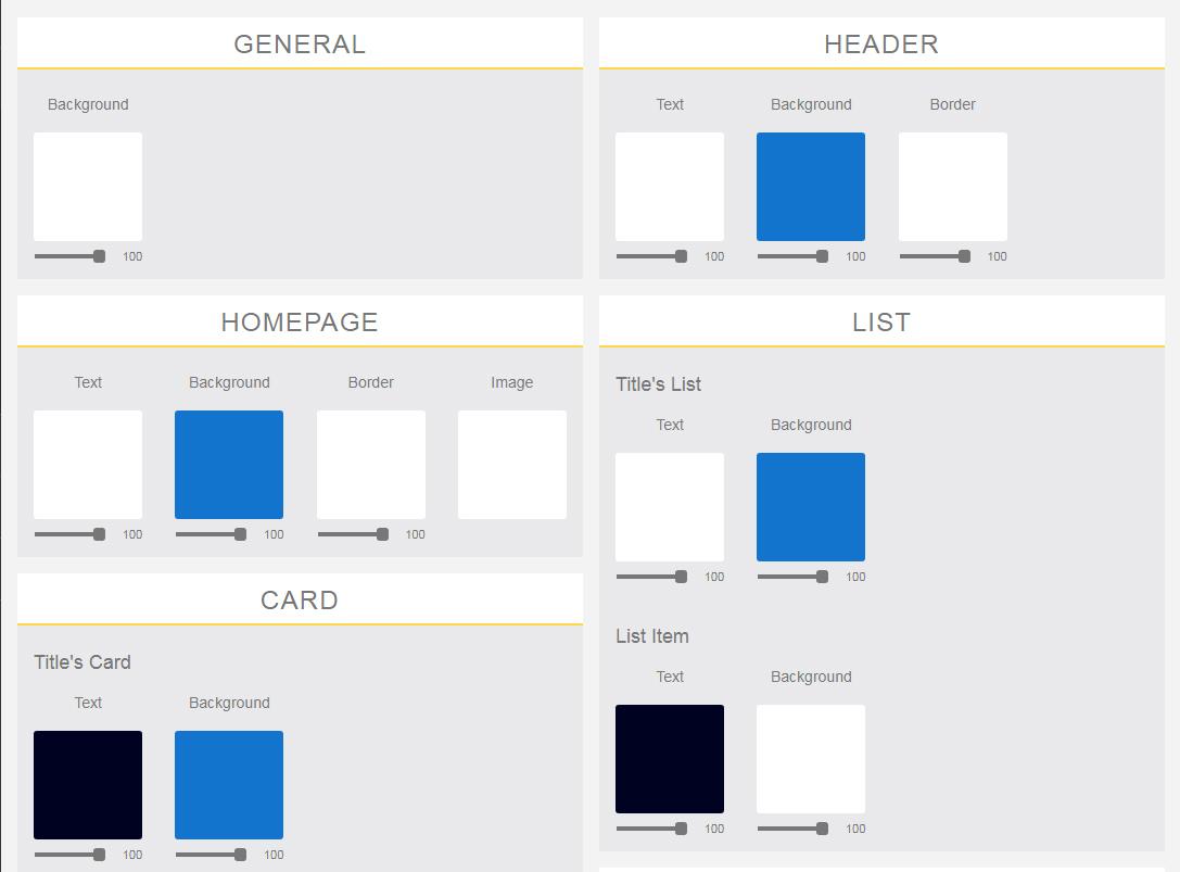 Mobile Application Colors